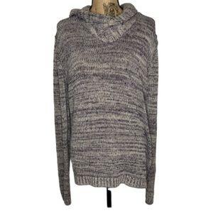 H&M navy blue grey cow neck sweater